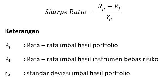 rumus sharpe ratio