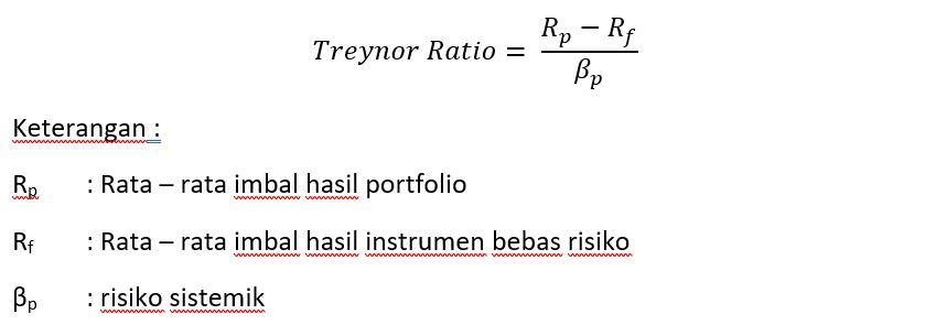 rumus treynor ratio