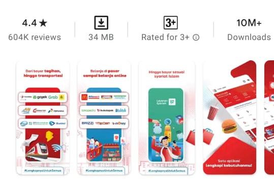 review linkaja - aplikasi transfer bebas biaya